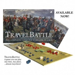 TravelBattle is a complete table top miniatures game in a box. It is intended for gamers who have limited space, or thos...