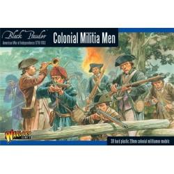 Colonial Militia Men Box - Plastic