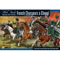 French Chasseurs a Cheval - 12 plastic light cavalry