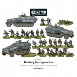 Blitzkreig Panzergrenadiers 30 + 3 Hanomags Box - Plastic
