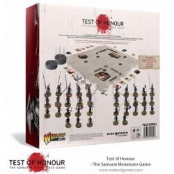 TEST OF HONOUR - THE SAMURAI MINIATURES GAME - Contains 5 Samurai 20 Ashigaru soldiers armed with spears 10 Ashigaru s...