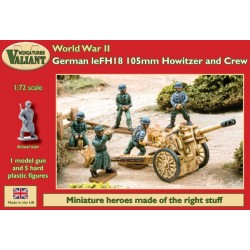 German leFH 18 105mm Howitzer and Crew