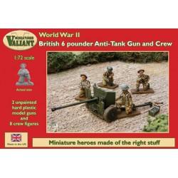 British 6-pounder Anti-Tank Gun and Crew
