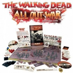 WALKING DEAD ALL OUT WAR MINIATURES GAME CORE SET SHIPPING NOW! This box set includes. 24-Page Rulebook, 8-Page Quic...