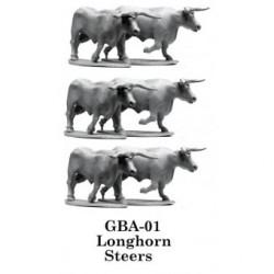 Longhorn Steers x6