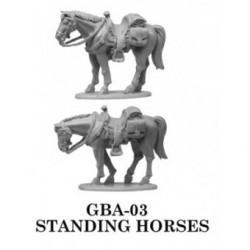 Standing Saddle Horses