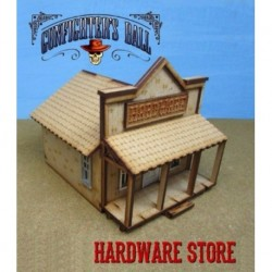 Cowtown Hardware Store The hardware store comes with metal-cast doors and windows, which include an interior frame. Th...