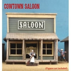 Cowtown Saloon - The saloon features ionic batwing doors and picture windows. Interior floor measures 4.5