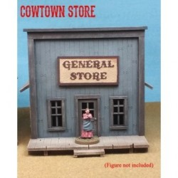 Cowtown Store - Generic Old West store. Contains MDF and metal cast parts. Interior floor measures 4.5