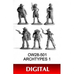 Archtypes 1 Digital Beautiful new sculpts using digital technology and cast in high-detail tin pewter. These are in th...