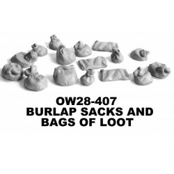 Burlap Sacks and Bags of Loot Bags to decorate stores, warhouses, farms, ranches or, in the case of the smaller bags, ...