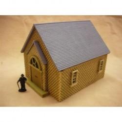 PAINTED Single storey chapel slate roof