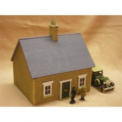 PAINTED Single storey house-bungalow slate roof