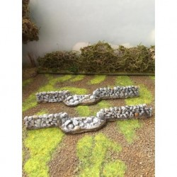 Mainly Military Painted Large broken stone walls 2