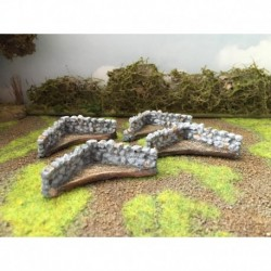 Mainly Military Painted Corner stone walls 4
