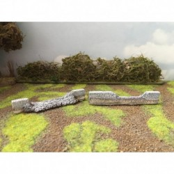 Mainly Military Painted Broken wall sections for 15-06 2