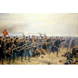 Danish Infantry Firing. 1864