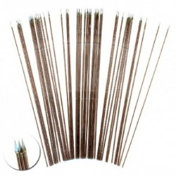 100mm long wire spears, diameter 1mm, with the end flattened and shaped into a spear head. These spears are for 28mm fig...
